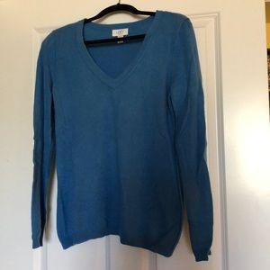 Loft Women's Cashmere L/S V Neck Sweater - Sz L